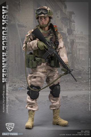Crazy Figure - Operation Gothic Serpent 1993 Mogadishu Somalia - Chalk Leader 75th Ranger - Task Force Ranger (1/12 Scale)