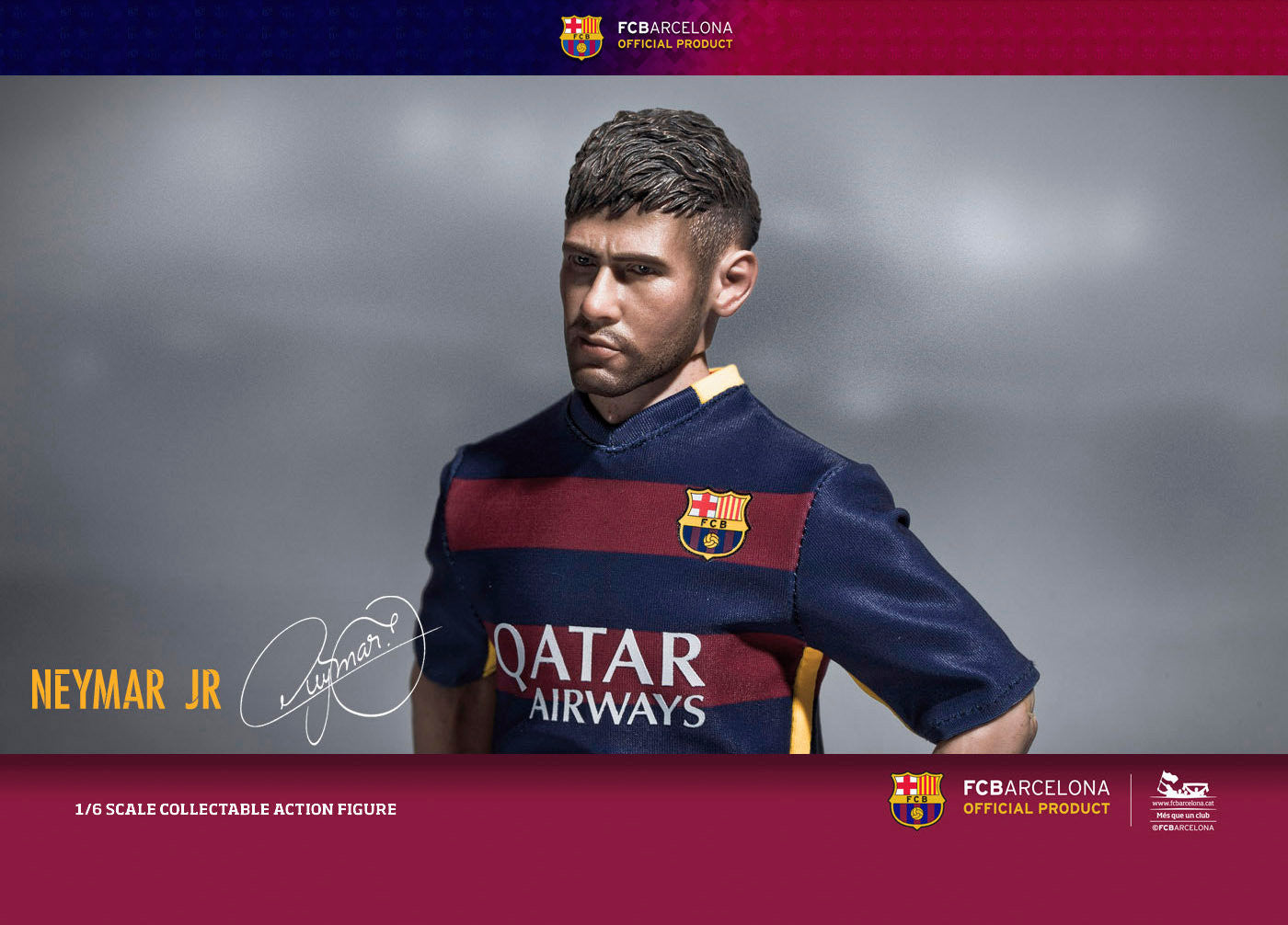 ZC World - FC Barcelona 15/16 - Neymar (Home Kit) - Marvelous Toys - 3
