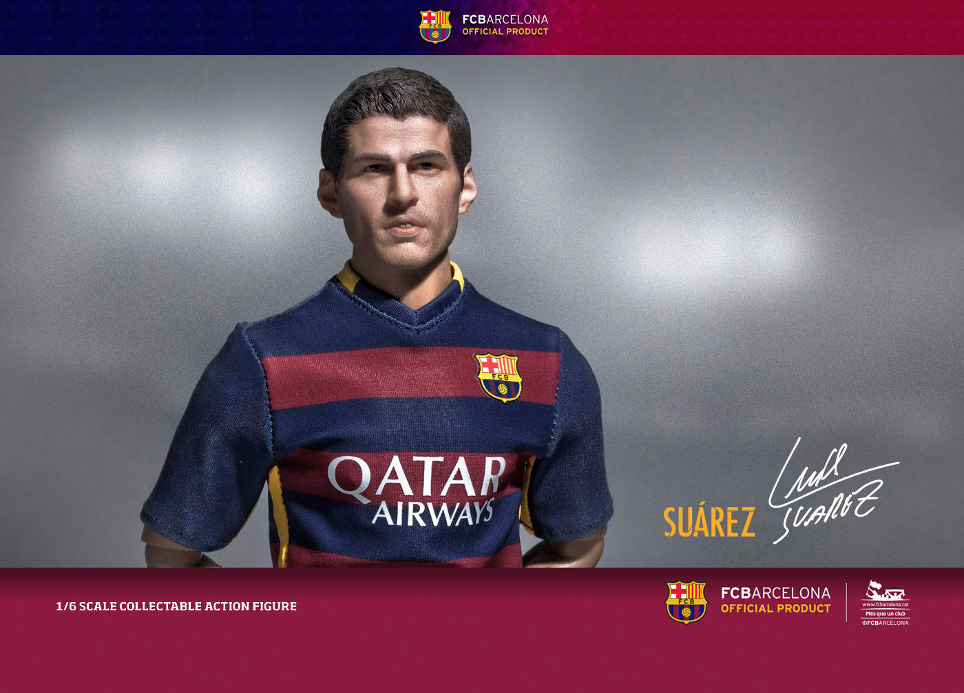 ZC World - FC Barcelona 15/16 - Luis Suarez (Home Kit) - Marvelous Toys - 1
