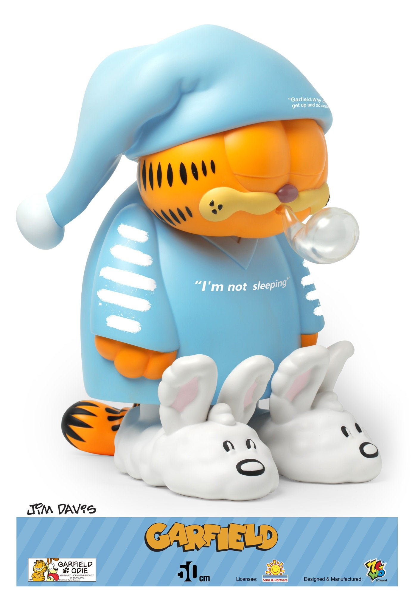 "ZC World - Jumbo Size 50cm - Garfield - ""I am not Sleeping"""