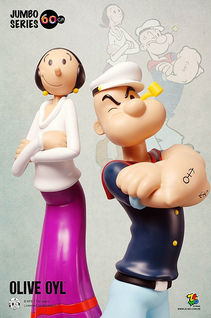 ZC World - Jumbo Size 60cm - Olive Oyl (Retro) (90th Anniversary)