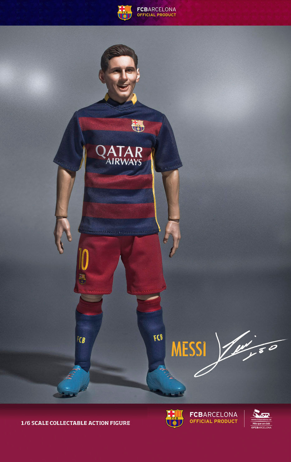 (IN STOCK) ZC World - FC Barcelona 15/16 - Lionel Messi (Home Kit) - Marvelous Toys - 1