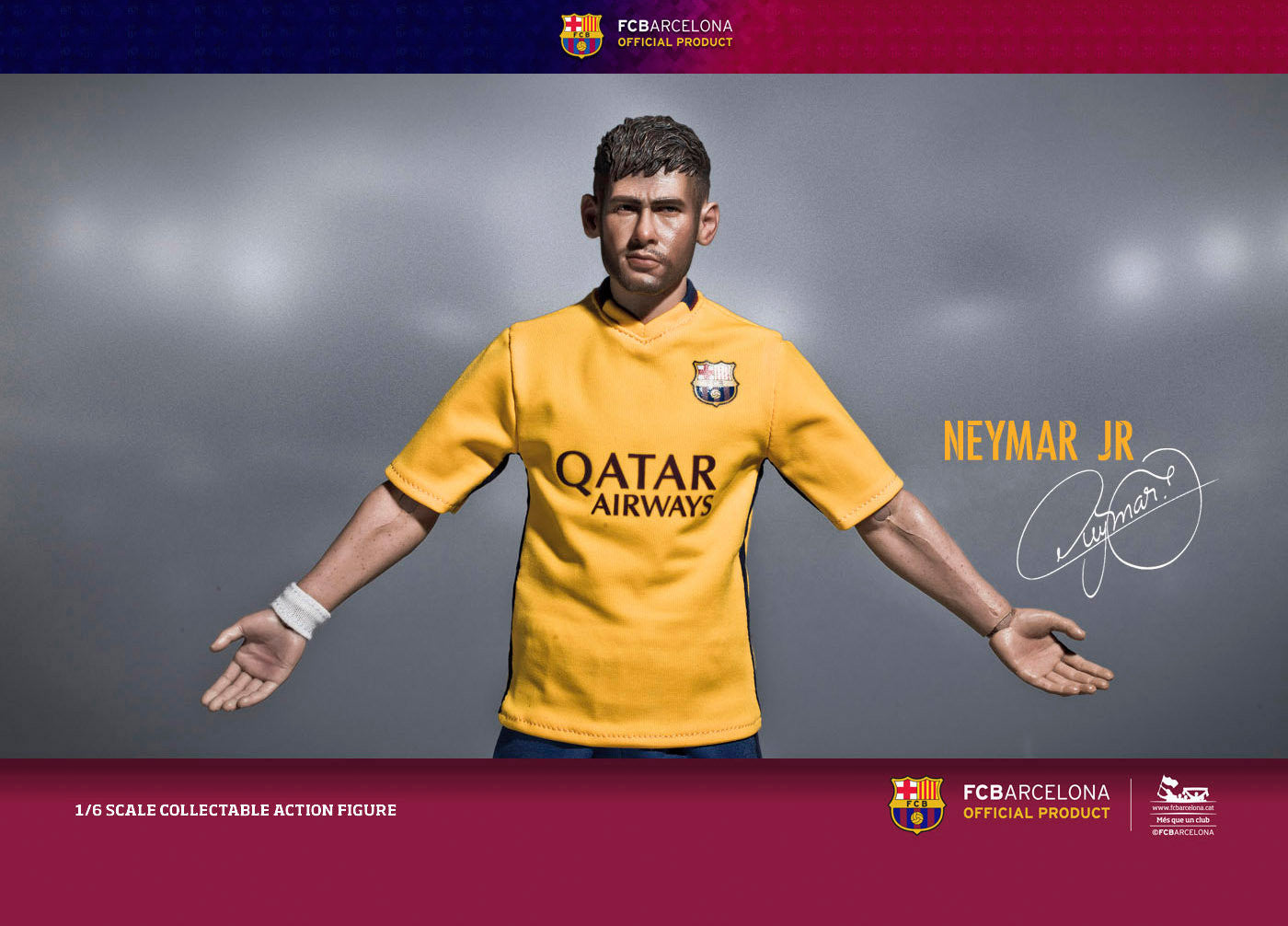 ZC World - FC Barcelona 15/16 - Neymar (Away Kit) - Marvelous Toys - 1