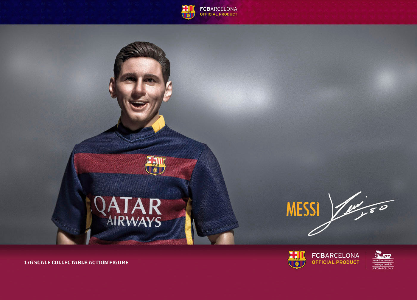 (IN STOCK) ZC World - FC Barcelona 15/16 - Lionel Messi (Home Kit) - Marvelous Toys - 2