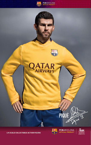 ZC World - FC Barcelona 15/16 - Gerard Pique (Away Kit) - Marvelous Toys - 1