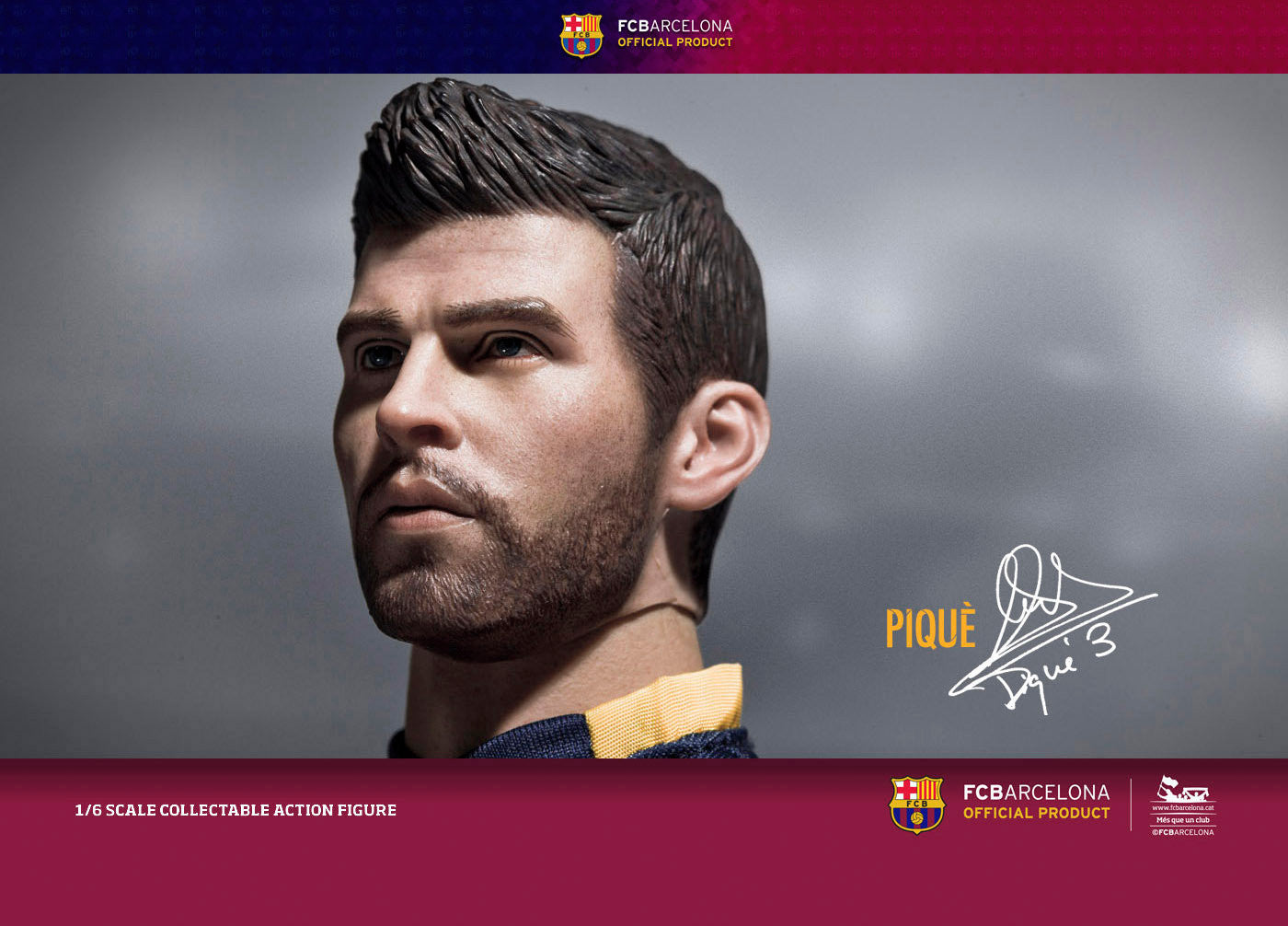 ZC World - FC Barcelona 15/16 - Gerard Pique (Home Kit) - Marvelous Toys - 3