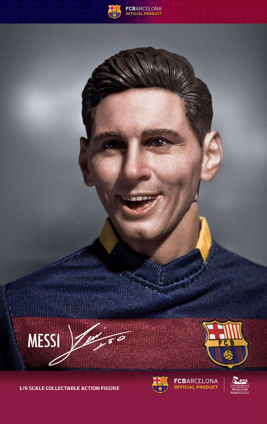(IN STOCK) ZC World - FC Barcelona 15/16 - Lionel Messi (Home Kit) - Marvelous Toys - 5