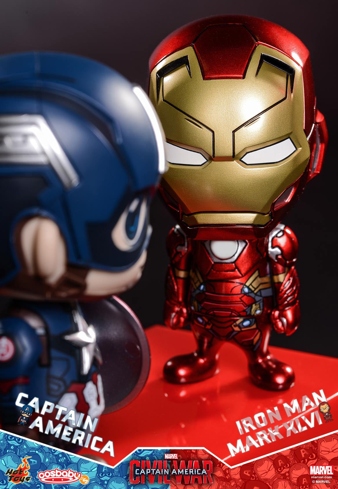Hot Toys - COSB199-200 - Captain America: Civil War - Captain America & Iron Man Mark XLVI Cosbaby Bobble-Head Set - Marvelous Toys - 3