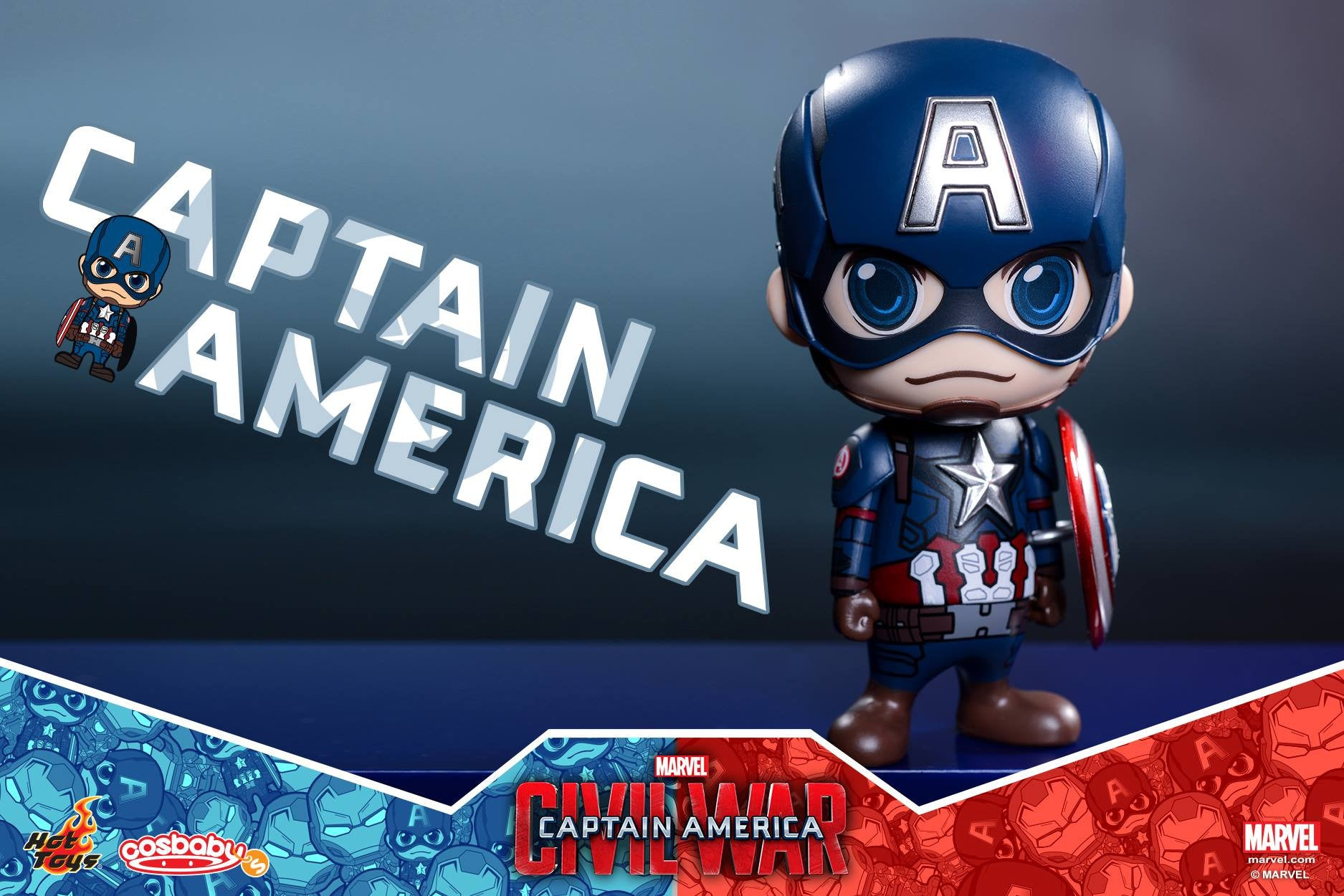 Hot Toys - COSB199-200 - Captain America: Civil War - Captain America & Iron Man Mark XLVI Cosbaby Bobble-Head Set - Marvelous Toys - 5