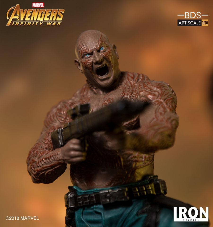 (IN STOCK) Iron Studios - 1:10 BDS Art Scale Statue - Avengers: Infinity War - Drax