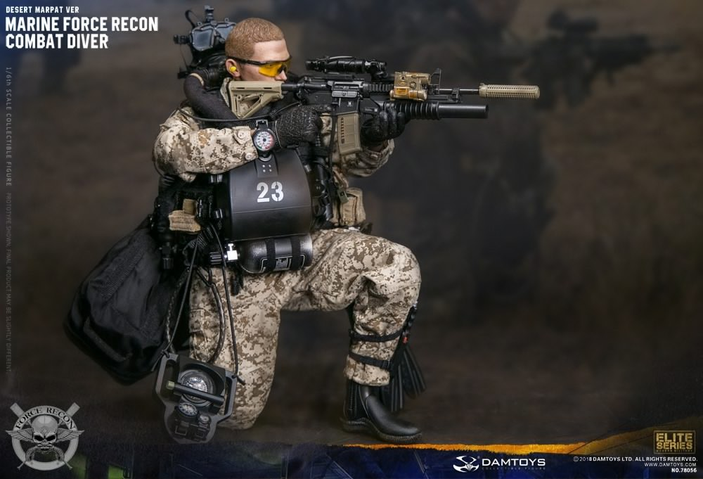 Dam Toys - 78056 - Marine Force Recon - Combat Diver (Desert MARPAT Version)