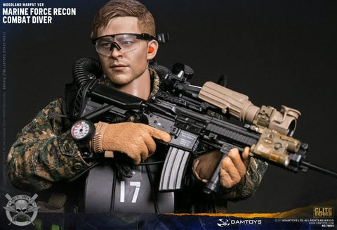 Dam Toys - 78055 - Marine Force Recon - Combat Diver (Woodland MARPAT Version)