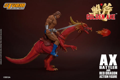 Storm Collectibles - Golden Axe - Ax Battler & Red Dragon (1/12 Scale)