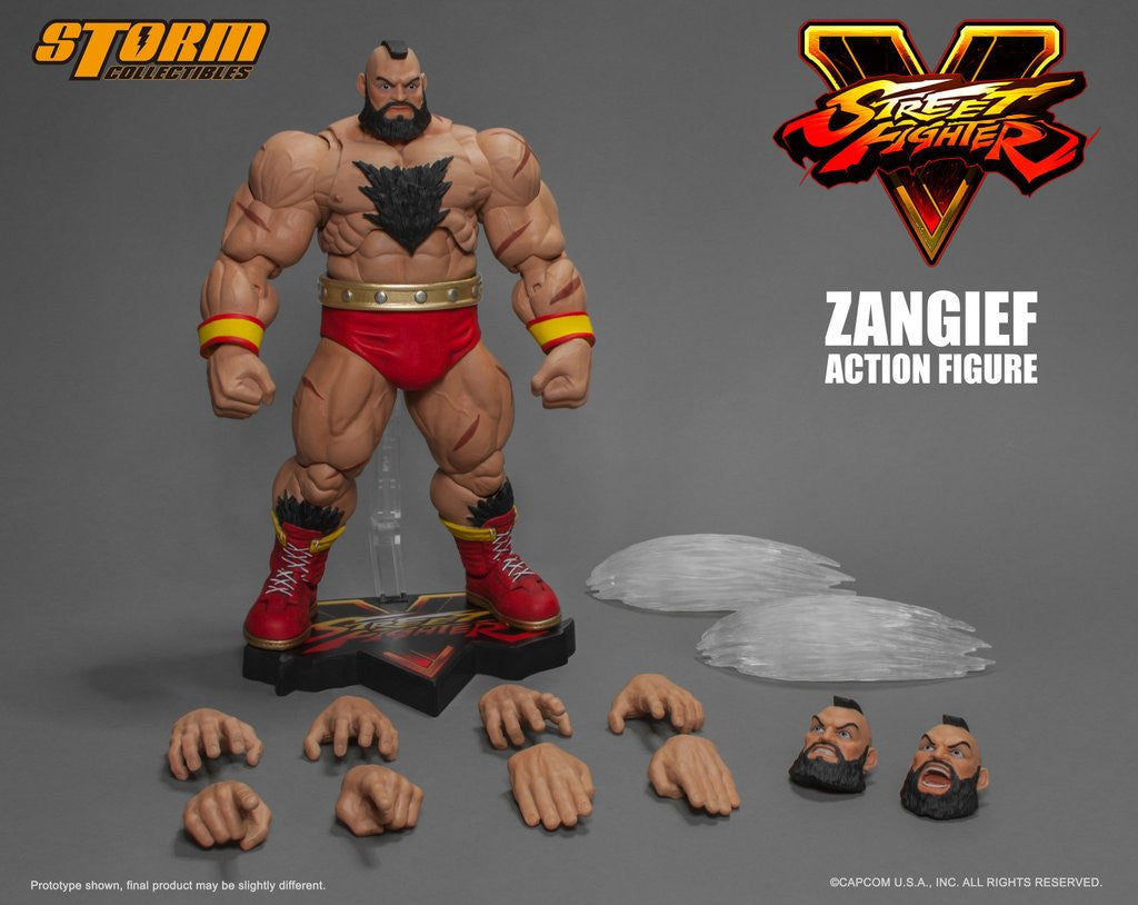 Storm Collectibles - 1:12 Scale Action Figure - Street Fighter V - Zangief
