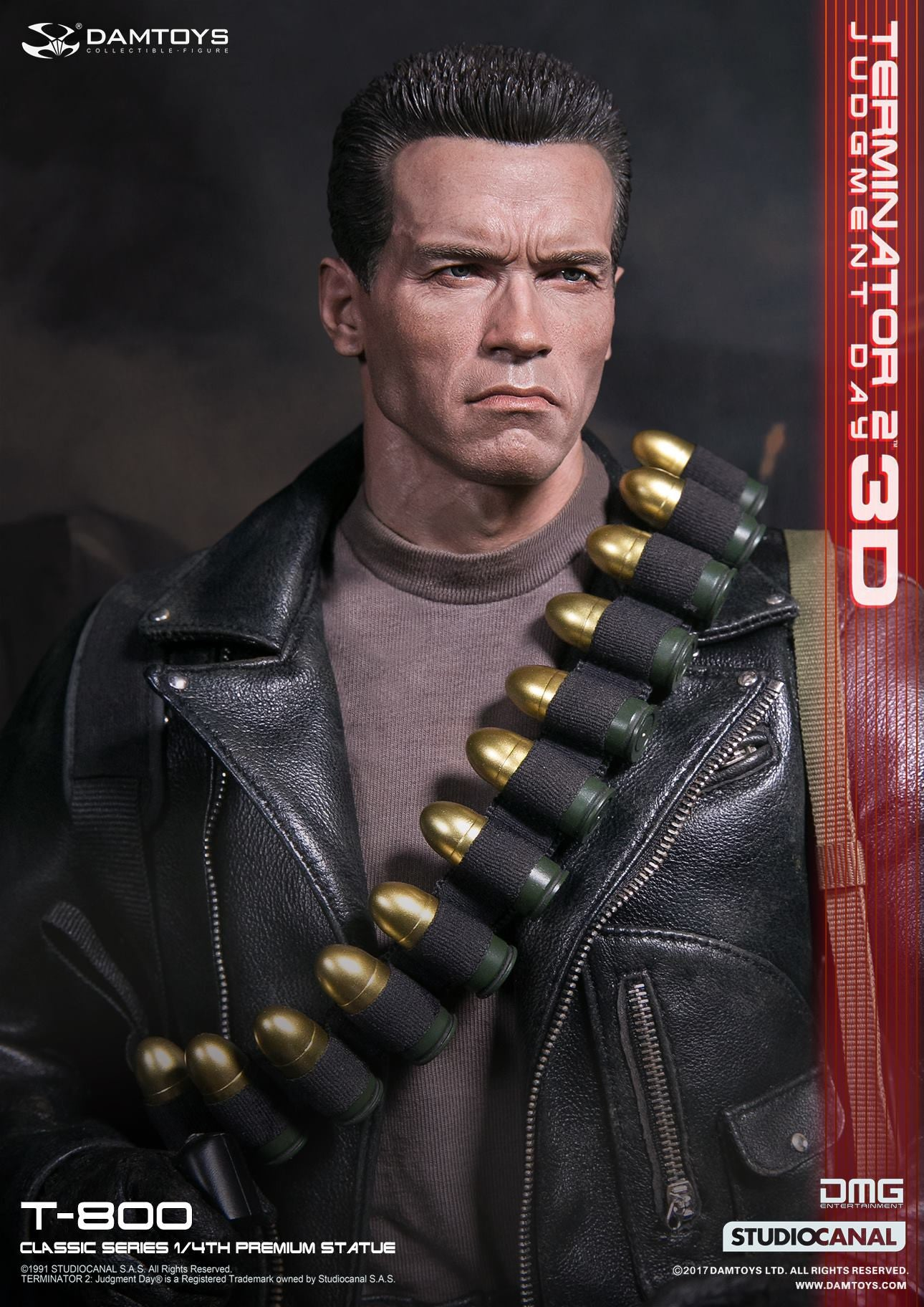 Damtoys - Classic Series - Terminator 2: Judgment Day - T-800 1/4th Scale Premium Statue