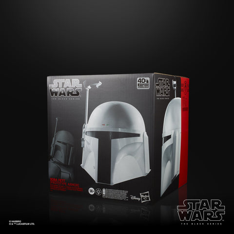 Hasbro - Star Wars: The Black Series - Wearable Premium Electronic Boba Fett Helmet (Prototype Armor) (1/1 Scale)