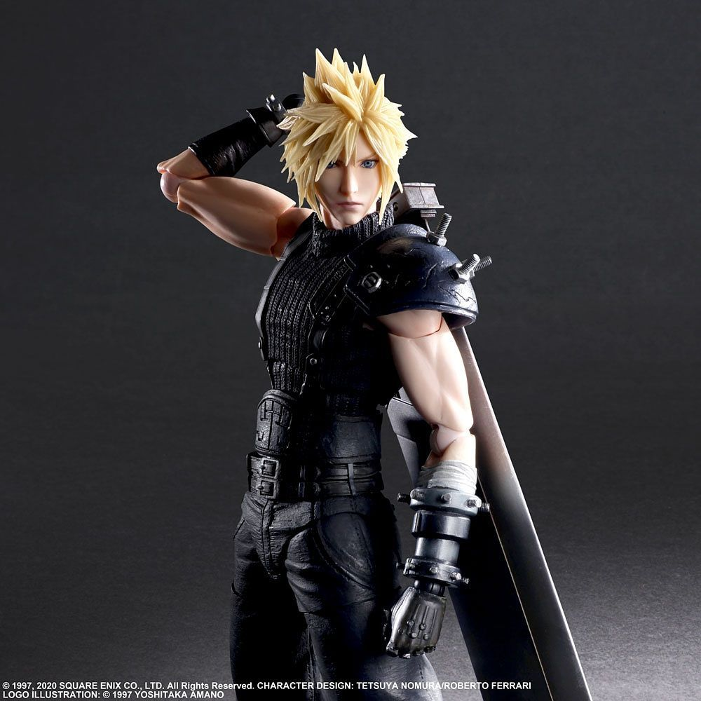 (IN STOCK) Square Enix - Play Arts Kai - Final Fantasy VII Remake - Cloud Strife (Ver. 2)