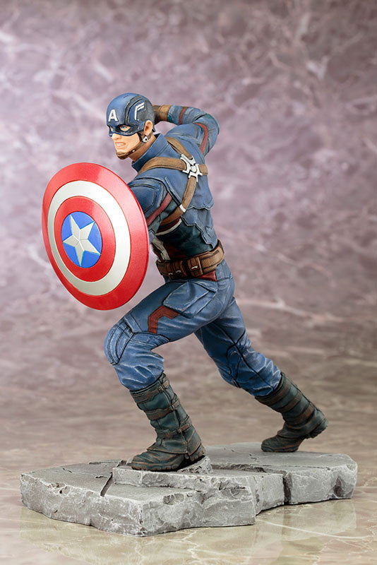 (IN STOCK) Kotobukiya - Captain America: Civil War - Captain America ARTFX+ Statue - Marvelous Toys - 1