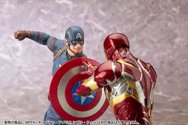(IN STOCK) Kotobukiya - Captain America: Civil War - Captain America ARTFX+ Statue - Marvelous Toys - 5