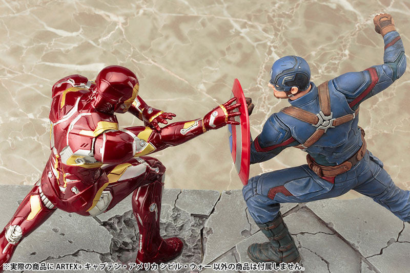(IN STOCK) Kotobukiya - Captain America: Civil War - Captain America ARTFX+ Statue - Marvelous Toys - 9