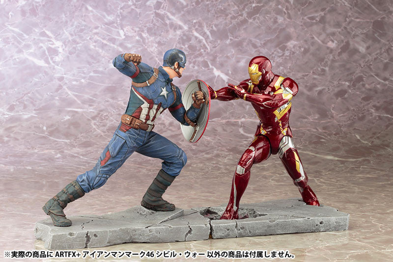 (IN STOCK) Kotobukiya - Captain America: Civil War - Iron Man Mark XLVI (46) ARTFX+ Statue - Marvelous Toys - 9