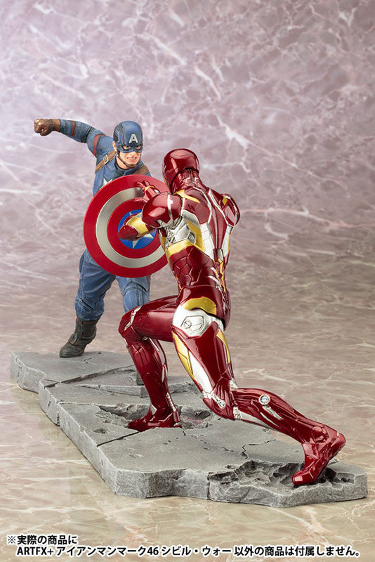(IN STOCK) Kotobukiya - Captain America: Civil War - Iron Man Mark XLVI (46) ARTFX+ Statue - Marvelous Toys - 10