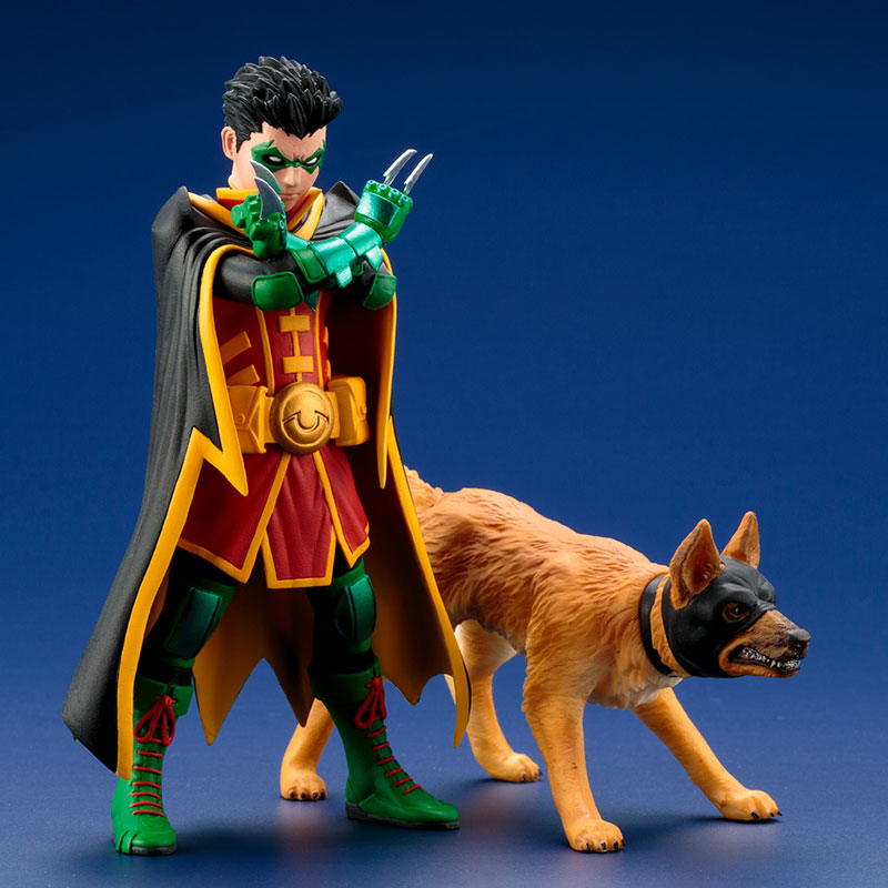 Kotobukiya - ARTFX+ - DC Comics Rebirth - Super Sons: Robin and Bat-Hound Two-Pack