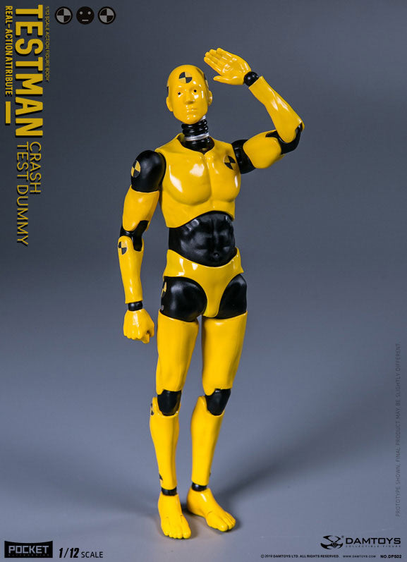 Dam Toys - Pocket Elite Series - DPS02 - Real-Action Attritbute - Testman Crash Test Dummy (1/12 Scale)