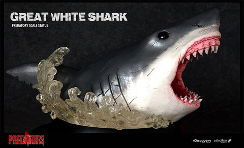 Silver Fox Collectibles - Great White Shark Predatory Scale Statue