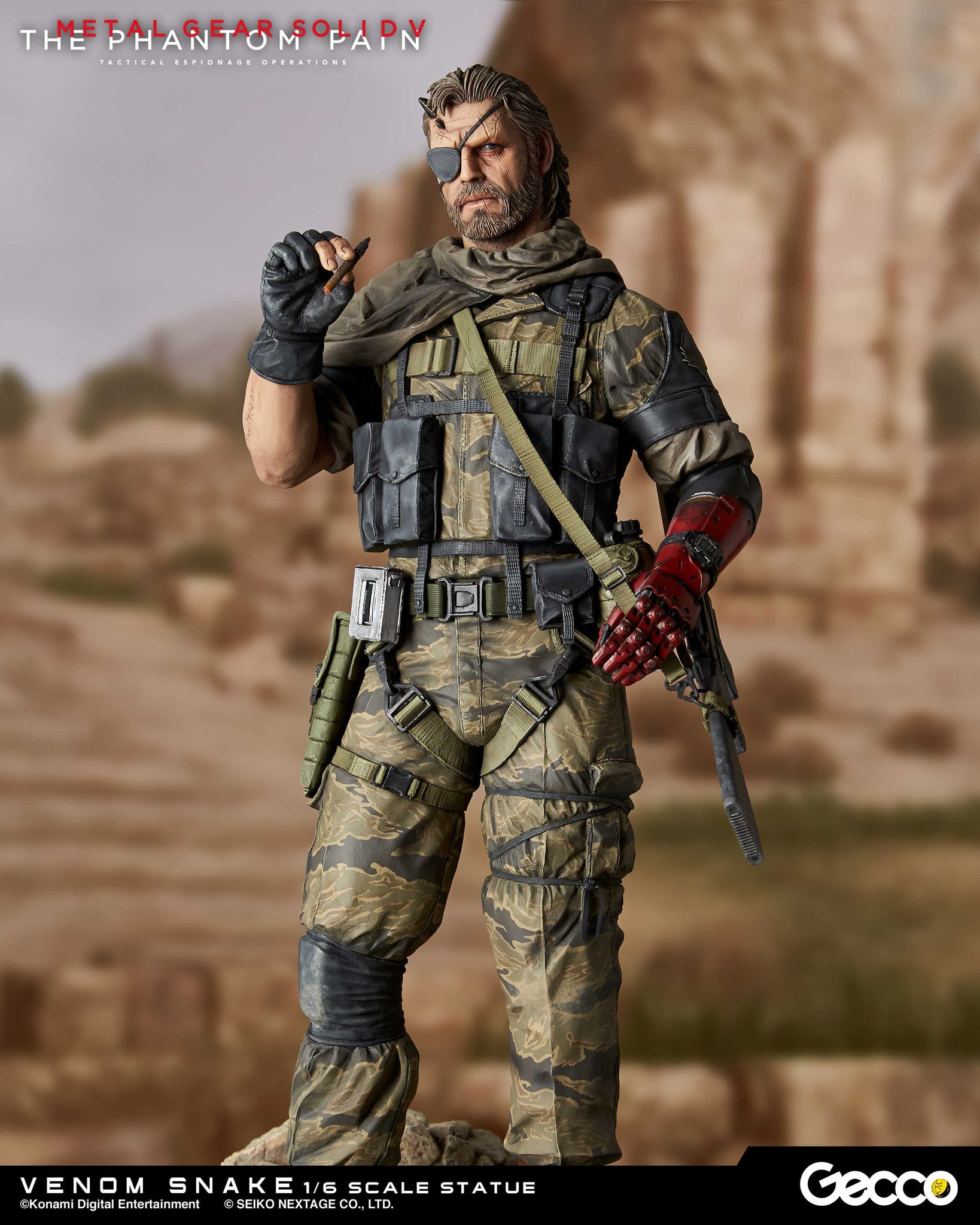 Gecco - Metal Gear Solid V: The Phantom Pain - Venom Snake 1/6 Scale Statue - Marvelous Toys - 1