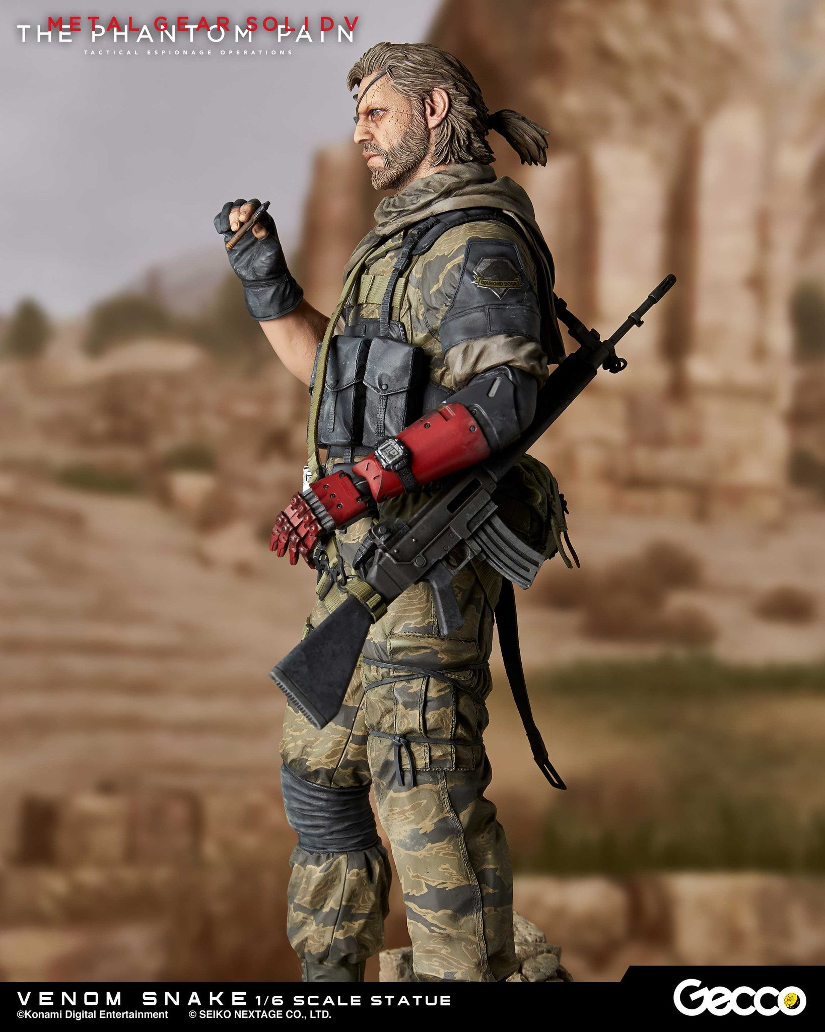 Gecco - Metal Gear Solid V: The Phantom Pain - Venom Snake 1/6 Scale Statue - Marvelous Toys - 4
