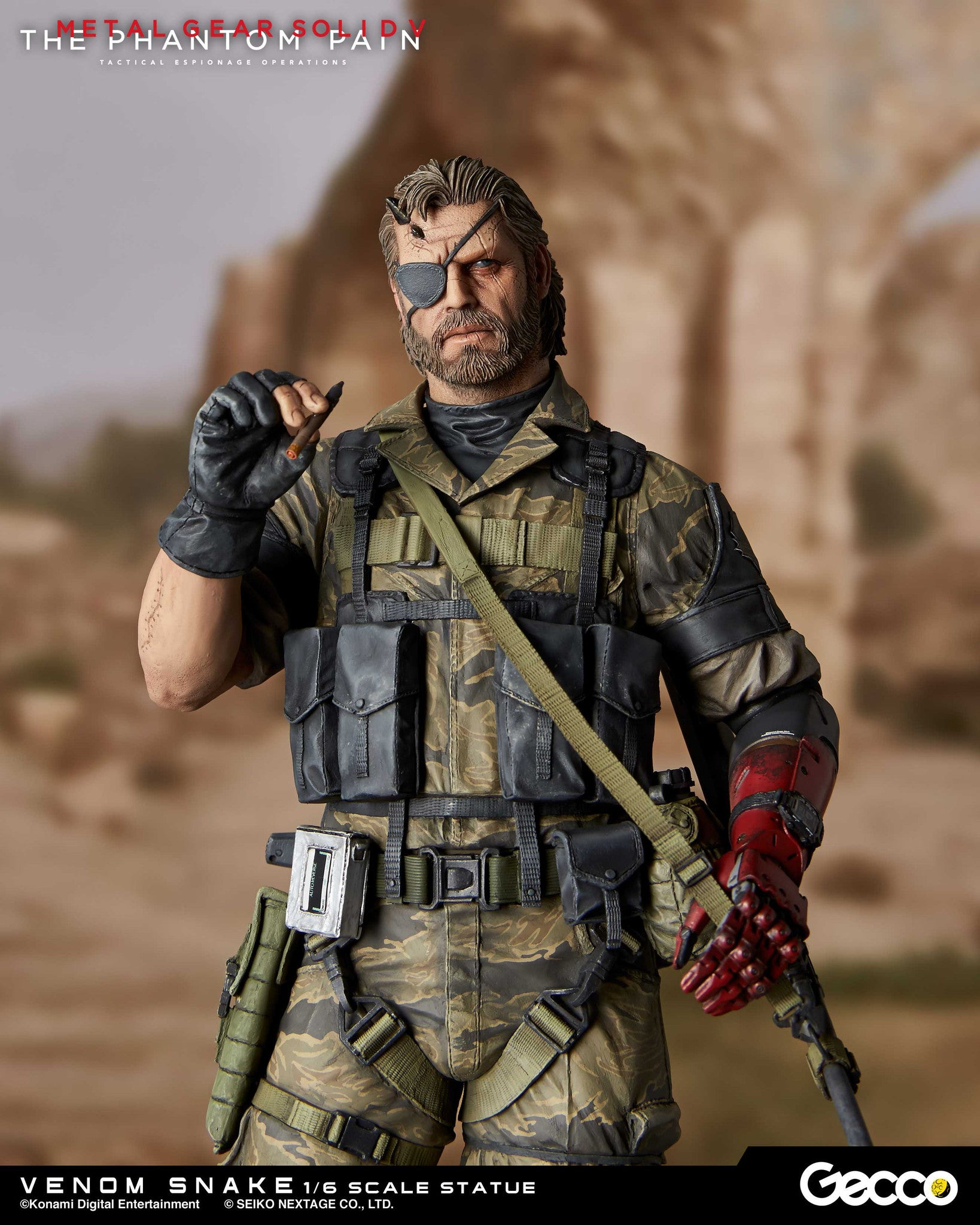 Gecco - Metal Gear Solid V: The Phantom Pain - Venom Snake 1/6 Scale Statue - Marvelous Toys - 5