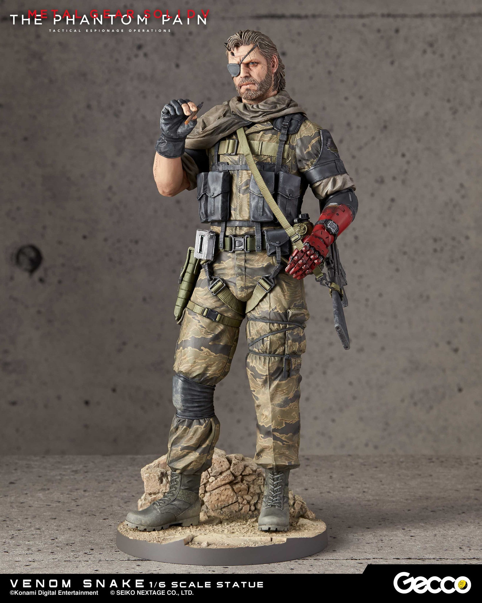 Gecco - Metal Gear Solid V: The Phantom Pain - Venom Snake 1/6 Scale Statue - Marvelous Toys - 7