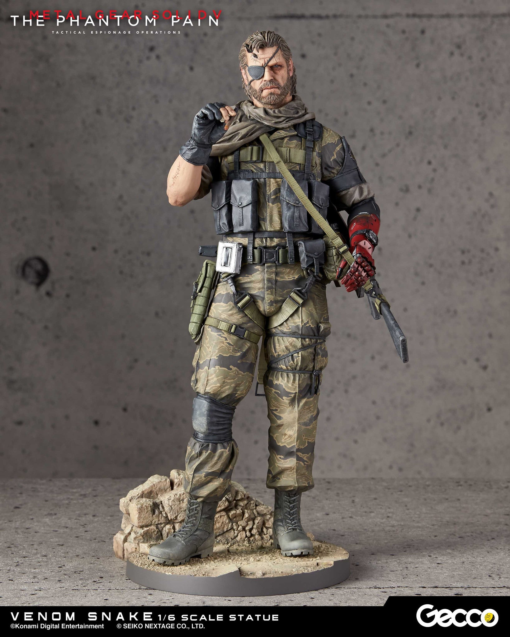 Gecco - Metal Gear Solid V: The Phantom Pain - Venom Snake 1/6 Scale Statue - Marvelous Toys - 8