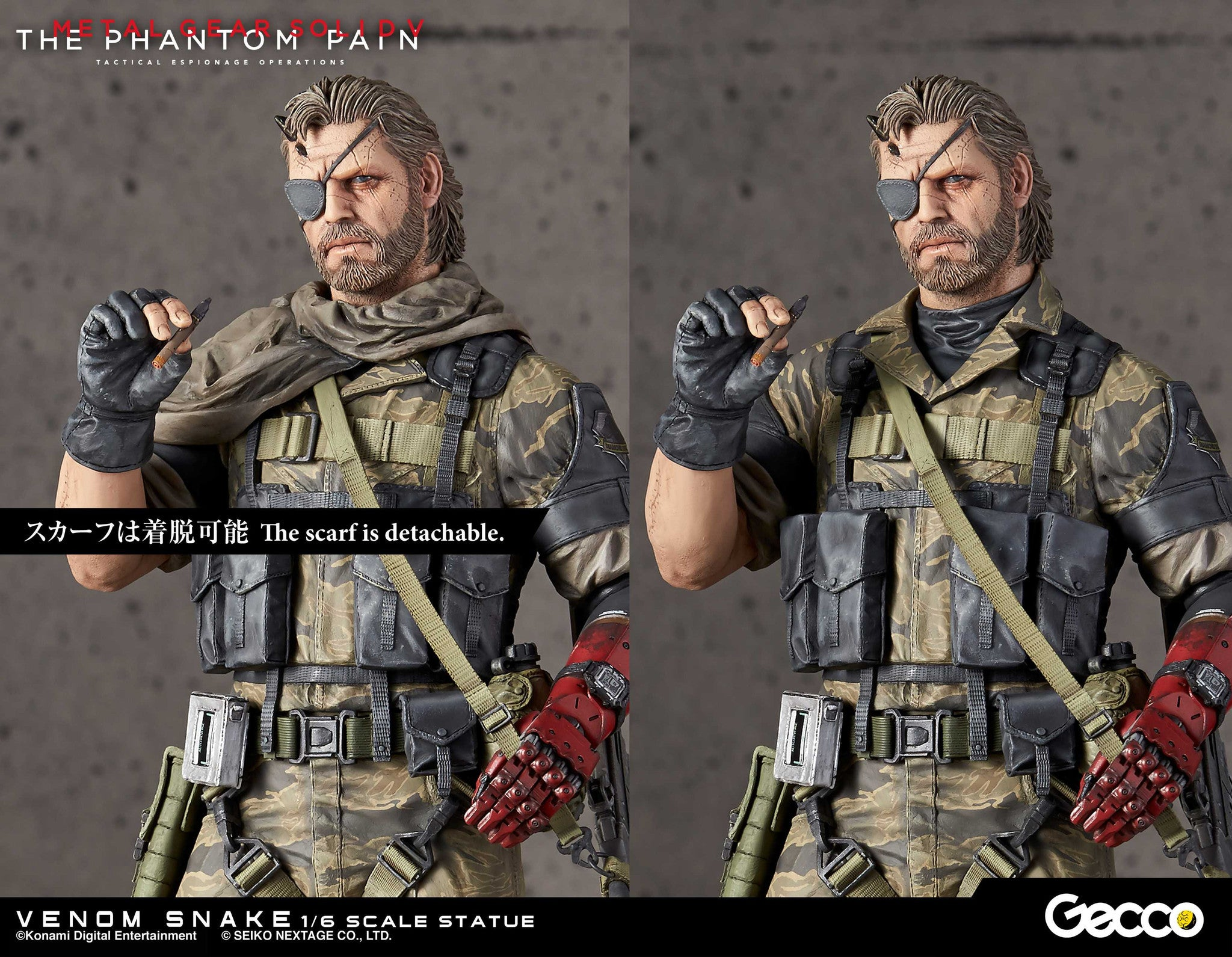 Gecco - Metal Gear Solid V: The Phantom Pain - Venom Snake 1/6 Scale Statue - Marvelous Toys - 27