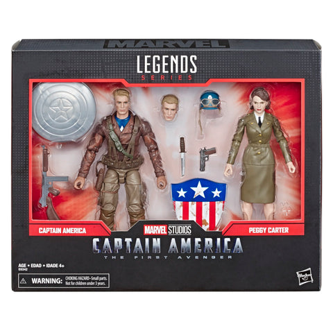 Hasbro - Marvel Legends - Marvel 80th Anniversary - Captain America: The First Avenger - Captain America and Peggy Carter