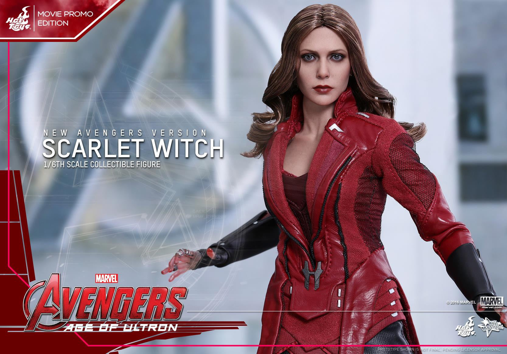 Toys - Avengers: Age of Ultron - Scarlet Witch (New Avengers Version) Movie Promo MMS357 - Marvelous Toys - 3
