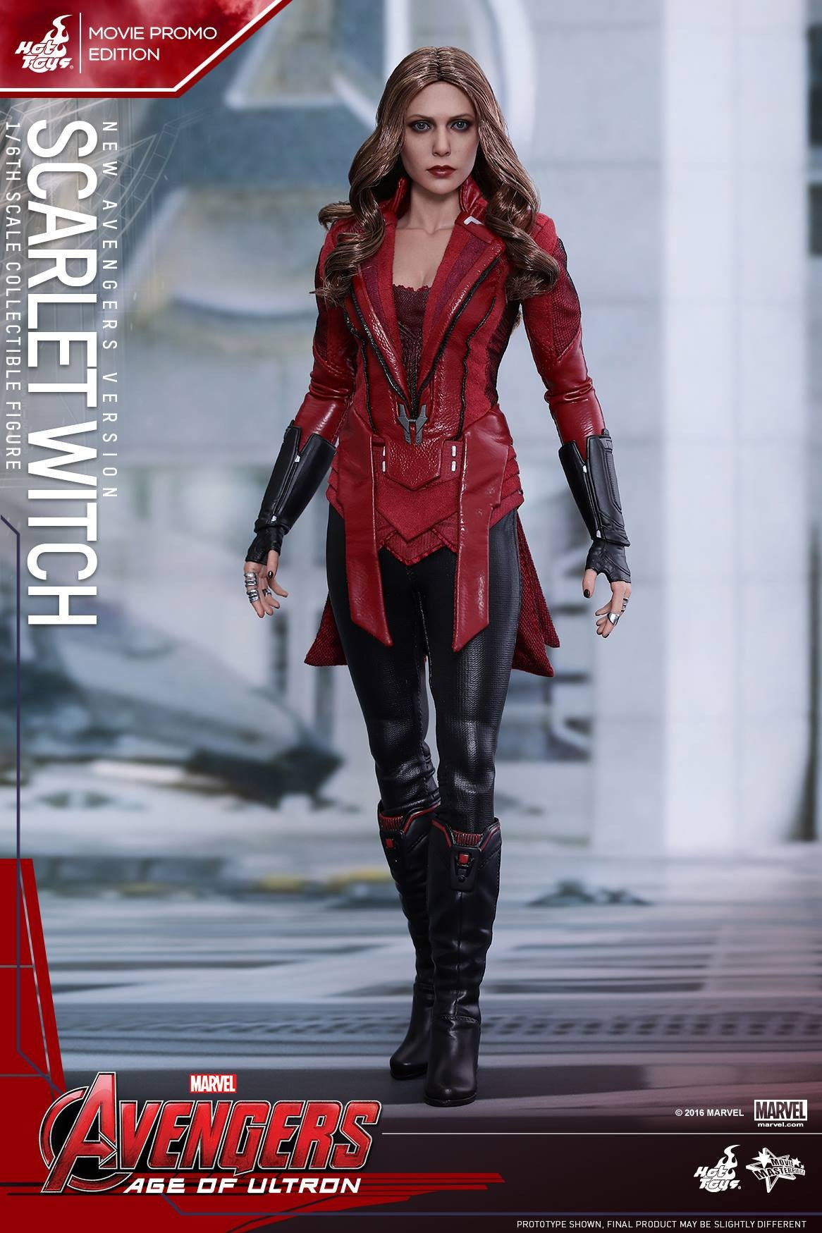 Toys - Avengers: Age of Ultron - Scarlet Witch (New Avengers Version) Movie Promo MMS357 - Marvelous Toys - 4