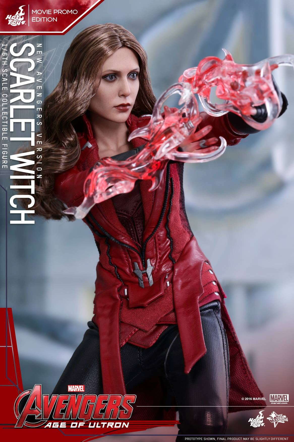 Toys - Avengers: Age of Ultron - Scarlet Witch (New Avengers Version) Movie Promo MMS357 - Marvelous Toys - 8