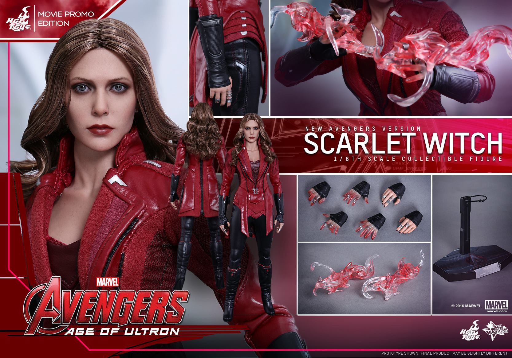 Toys - Avengers: Age of Ultron - Scarlet Witch (New Avengers Version) Movie Promo MMS357 - Marvelous Toys - 10