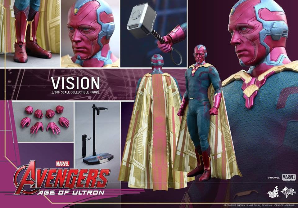 [In Stock] Hot Toys - MMS296 - Avengers: Age of Ultron - Vision - Marvelous Toys - 14