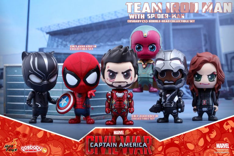 Hot Toys - COSB272 - Captain America Civil War – Team Iron Man With Spider-Man Cosbaby (S) Bobble-Head Collectible Set - Marvelous Toys - 1