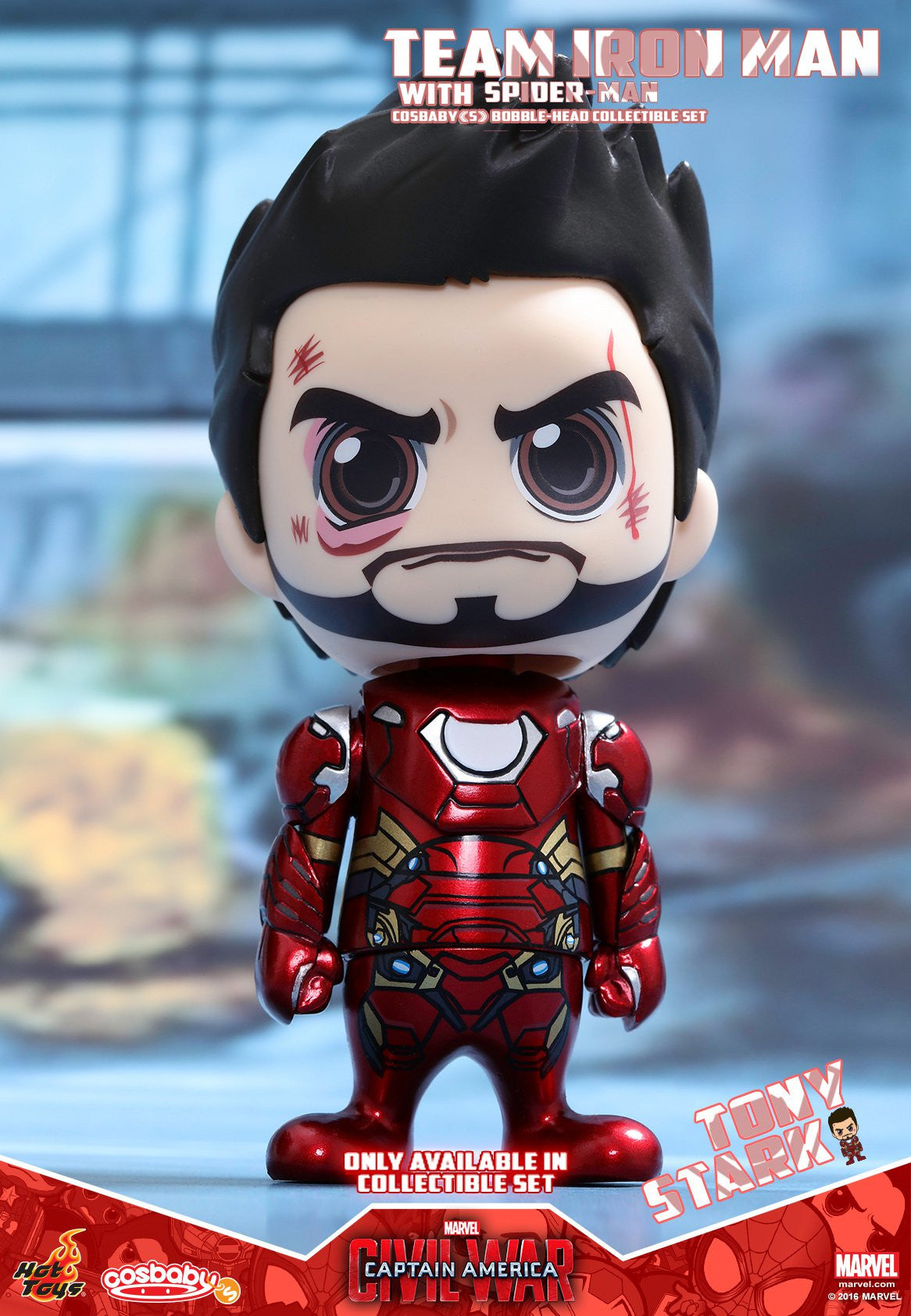 Hot Toys - COSB272 - Captain America Civil War – Team Iron Man With Spider-Man Cosbaby (S) Bobble-Head Collectible Set - Marvelous Toys - 2