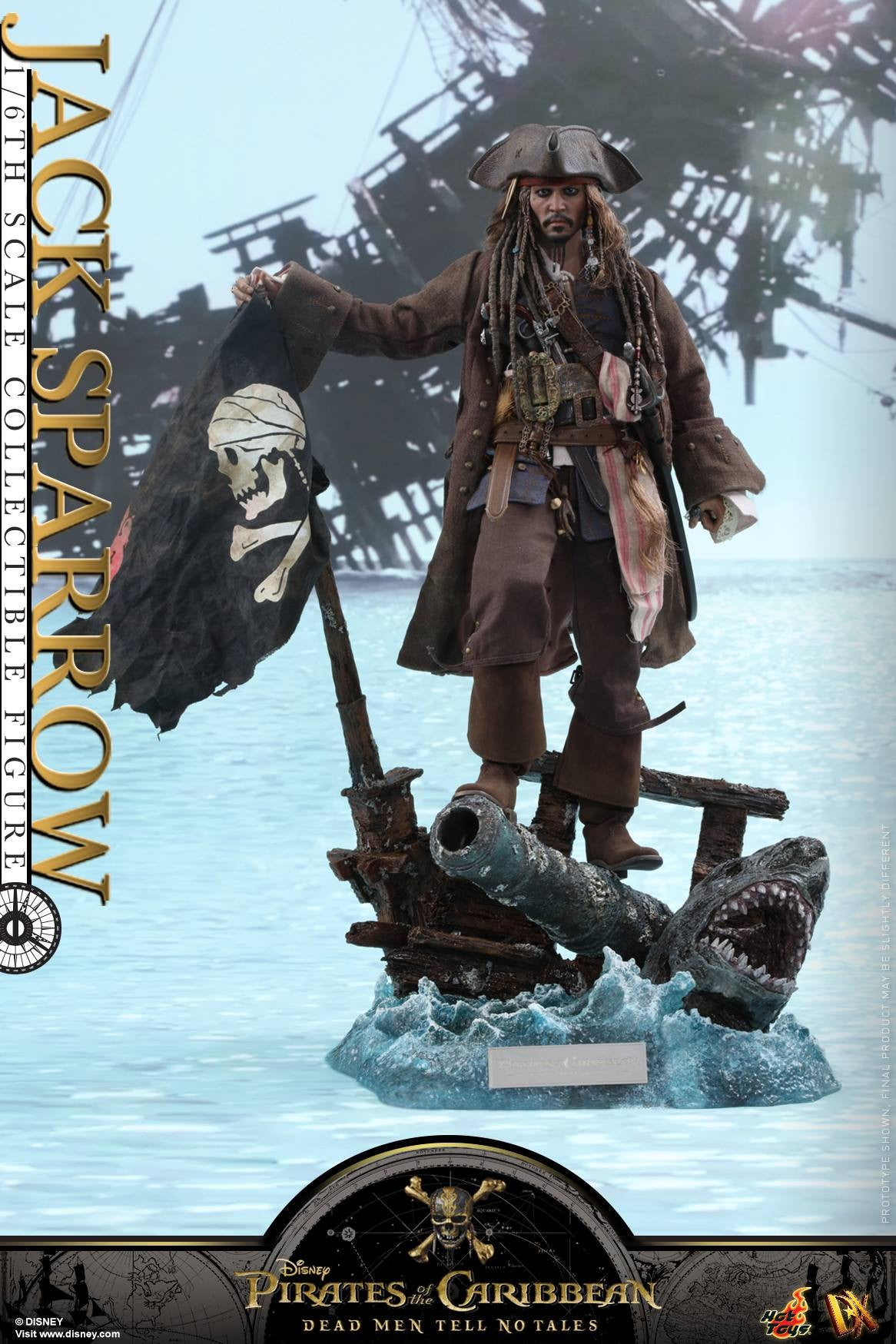 Hot Toys - DX15 - Pirates Of The Caribbean: Dead Men Tell No Tales - Jack Sparrow