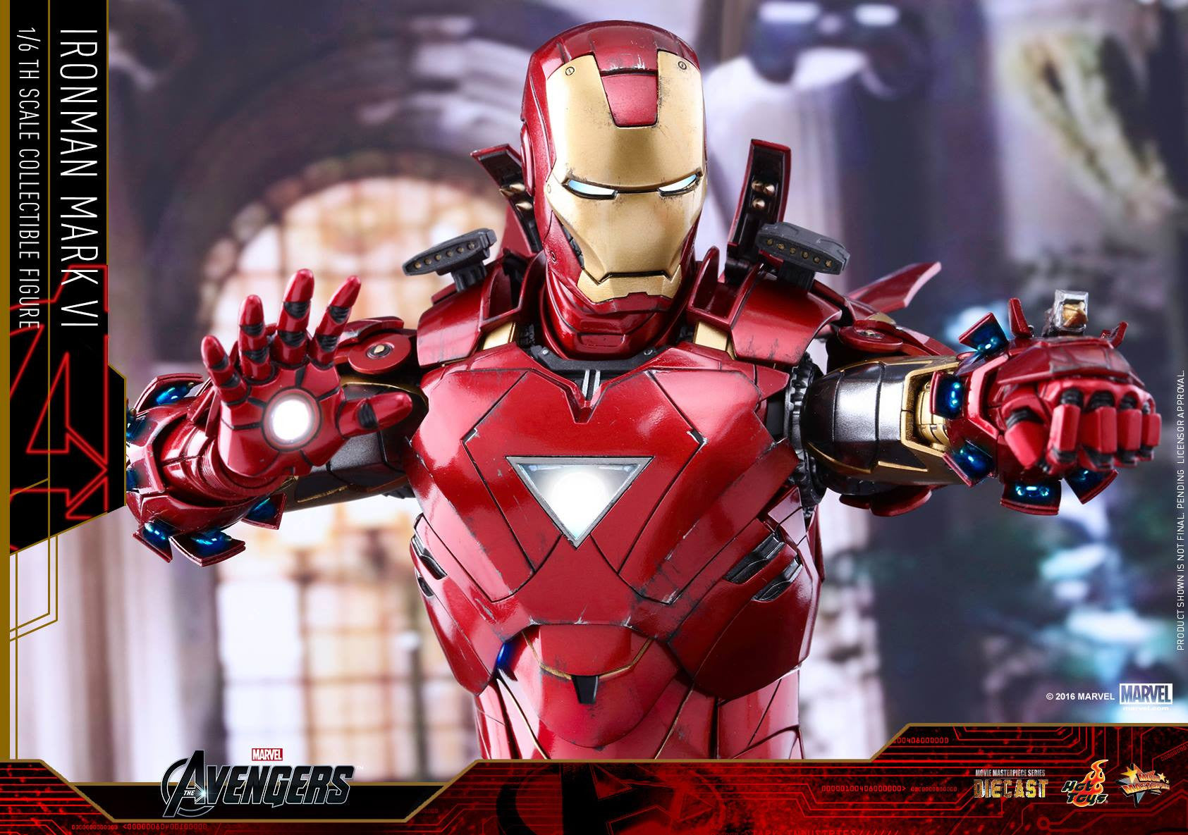 Hot Toys - MMS378D17 - The Avengers - Iron Man Mark VI (DIECAST) (Normal Edition) - Marvelous Toys - 3