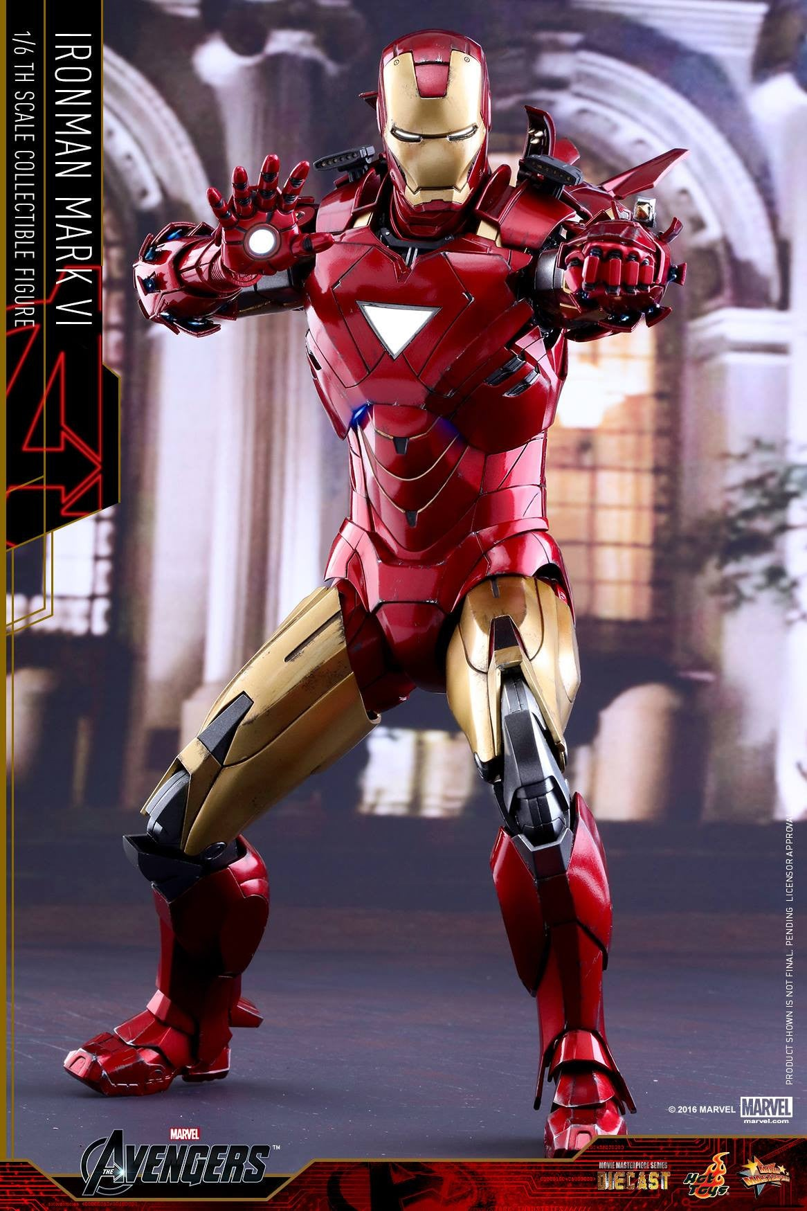 Hot Toys - MMS378D17 - The Avengers - Iron Man Mark VI (DIECAST) (Normal Edition) - Marvelous Toys - 12