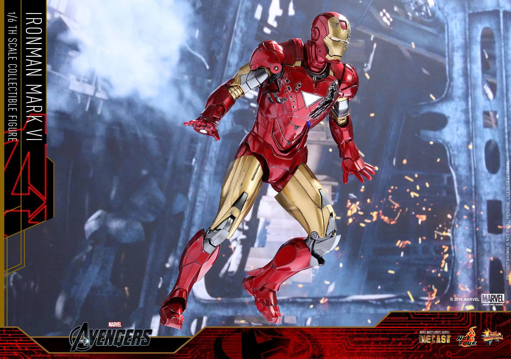 Hot Toys - MMS378D17 - The Avengers - Iron Man Mark VI (DIECAST) (Normal Edition) - Marvelous Toys - 17