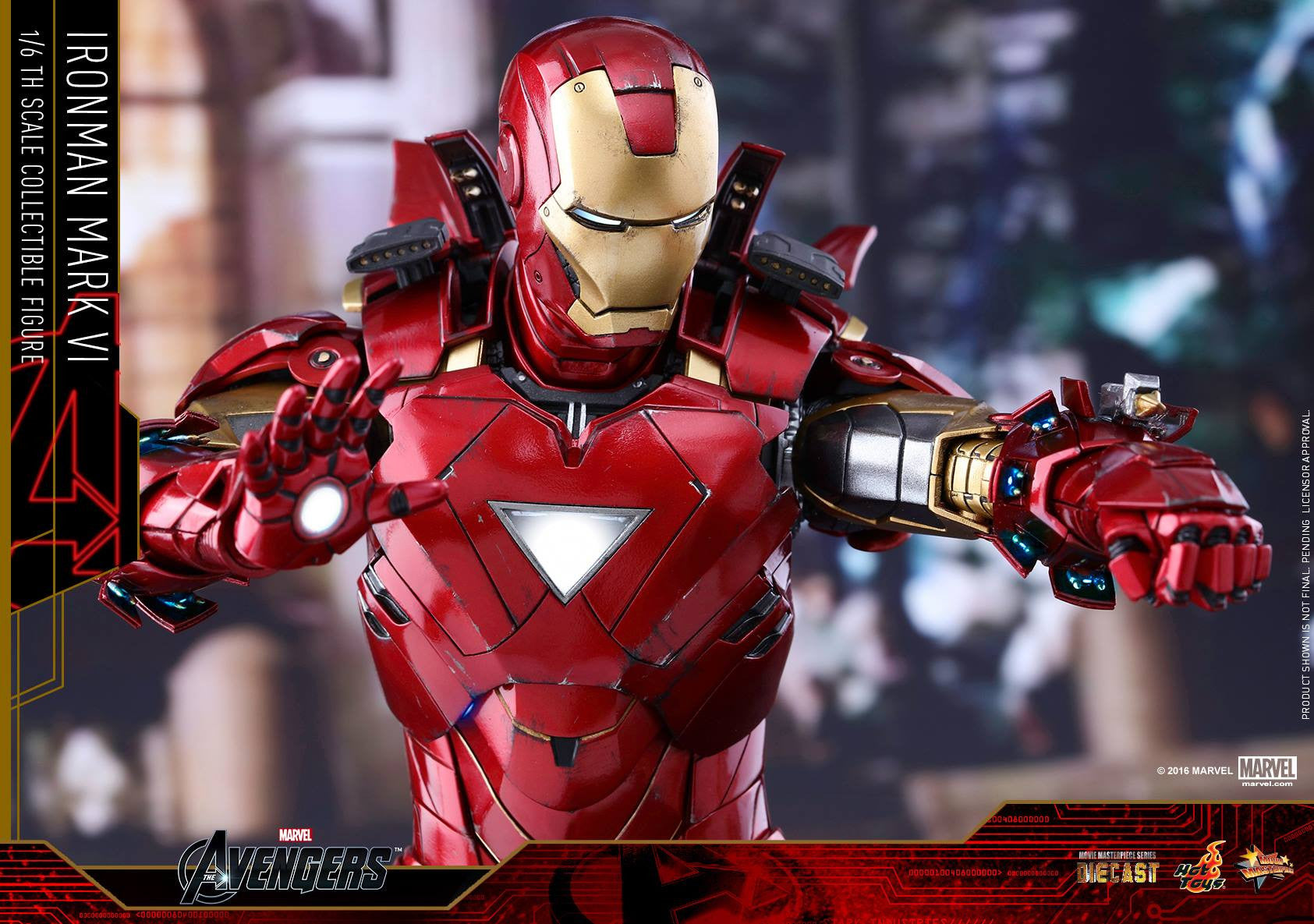 Hot Toys - MMS378D17 - The Avengers - Iron Man Mark VI (DIECAST) (Normal Edition) - Marvelous Toys - 19