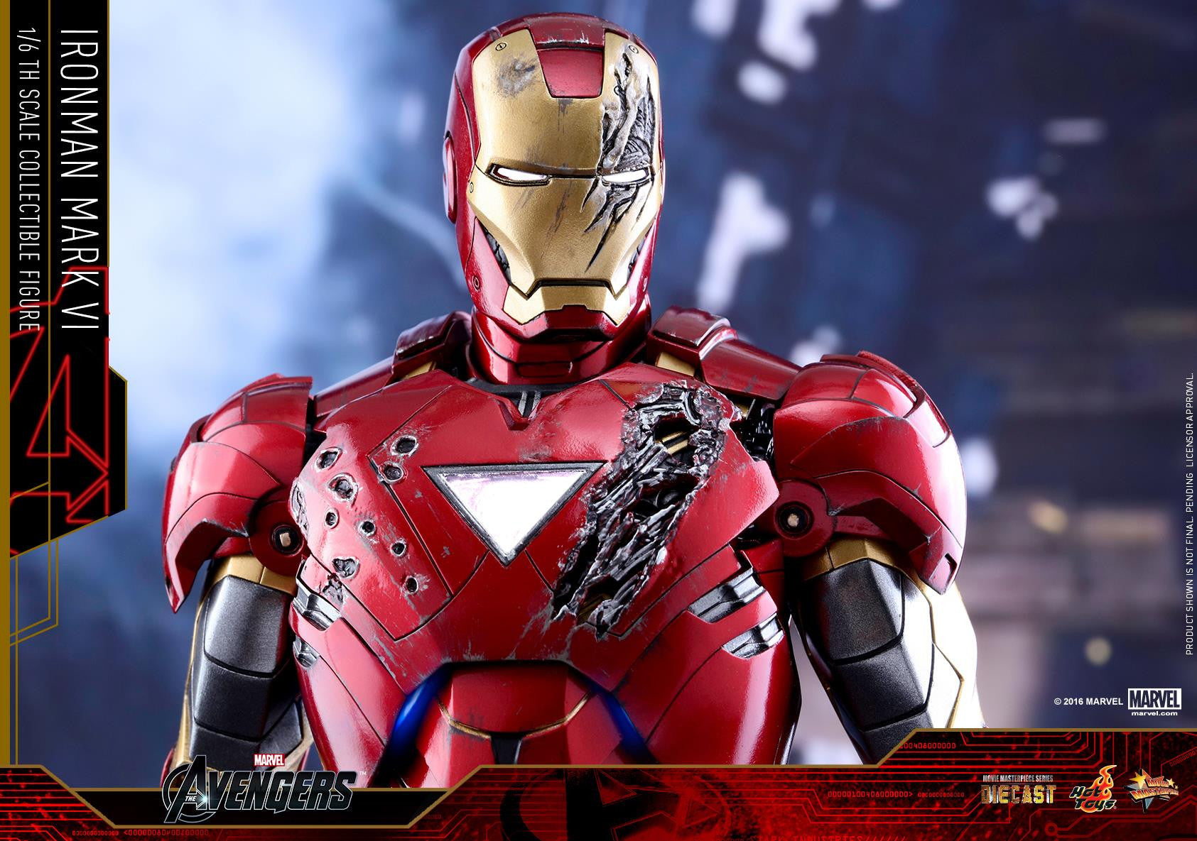 Hot Toys - MMS378D17 - The Avengers - Iron Man Mark VI (DIECAST) (Normal Edition) - Marvelous Toys - 22