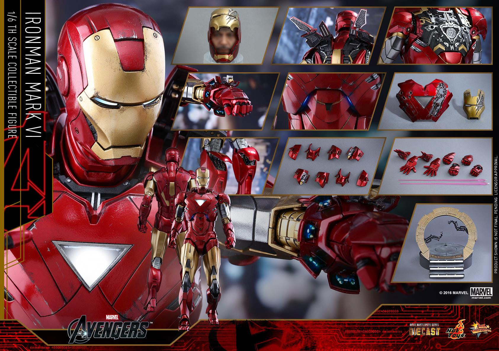 Hot Toys - MMS378D17 - The Avengers - Iron Man Mark VI (DIECAST) (Normal Edition) - Marvelous Toys - 23